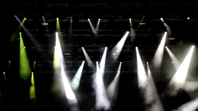 Multicolored stage lights