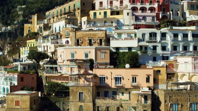 Multicoloured Cliffside Houses On Mountainside, Positano, Amalfi Coast, Italy