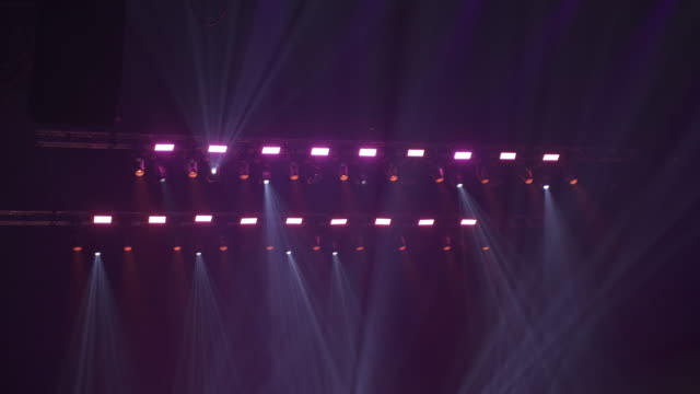 cu. multi-coloured concert lights. - floodlight stock videos & royalty-free footage