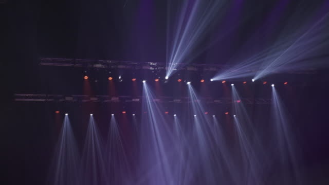 cu. multi-coloured concert lights. - concert stock videos & royalty-free footage