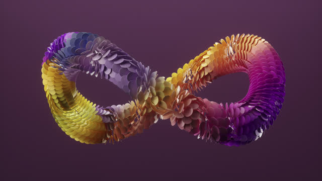 multicoloured infinity sign. - infinity stock videos & royalty-free footage