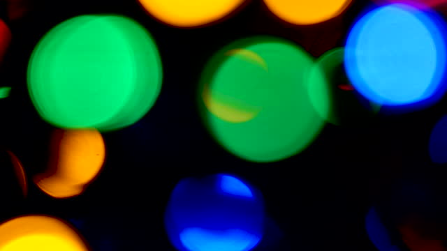 ts multi-coloured lights defocussed - tracking shot stock videos & royalty-free footage