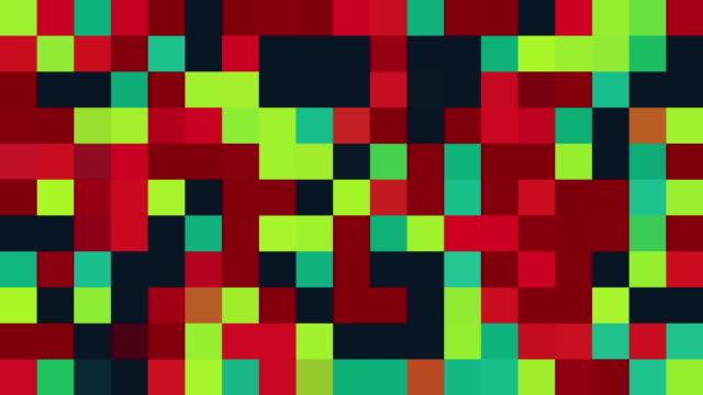 mehrfarbige plätze/türkis, rosa, rot, blau, grün, lila, orange und gelb/farben wechselt zufällige generative allegorien-effekt - tierfarbe stock-videos und b-roll-filmmaterial