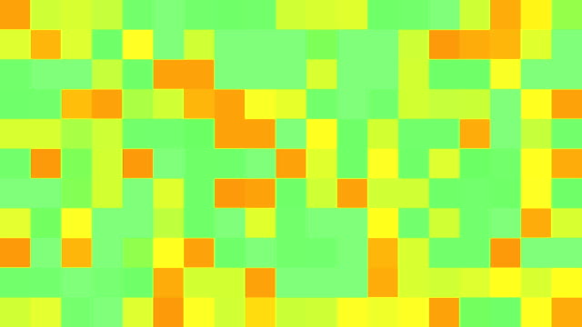 Multicoloured Squares | Turquoise, Pink, Red, Blue, Green, Purple, Orange and Yellow | Colours Change with Random Generative Flicker Effect