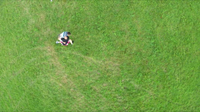 multicopter aerial shot of outdoor wrestling training - multicopter stock videos & royalty-free footage