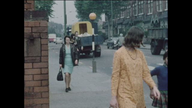 multicultural children on a school field trip with teachers to the park in the united kingdom circa 1968 no sound - emigration and immigration stock videos & royalty-free footage
