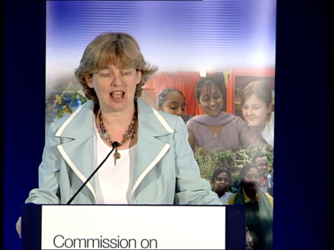 ruth kelly statement / full statement by ruth kelly england london int ruth kelly mp speech sot welcome and thanks to all of you who have come here... - multiculturalism stock videos & royalty-free footage