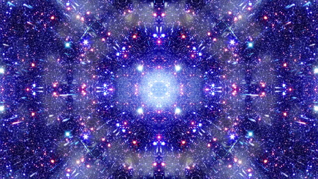 multidimensional space travel star field kaleido - mandala stock videos & royalty-free footage
