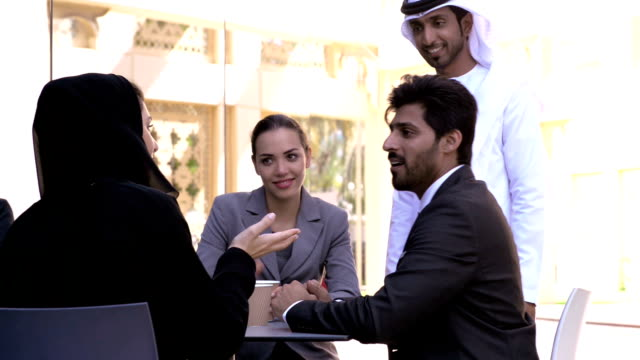 multi-ethnic business people in dubai - middle eastern ethnicity stock videos & royalty-free footage