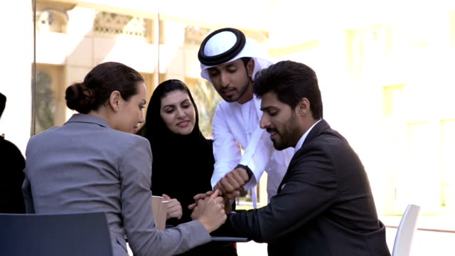 Multi-ethnic business people in Dubai