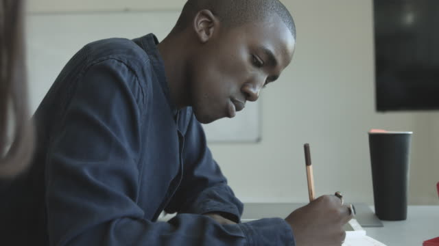 multiethnic college students write, close up - exam stock videos & royalty-free footage