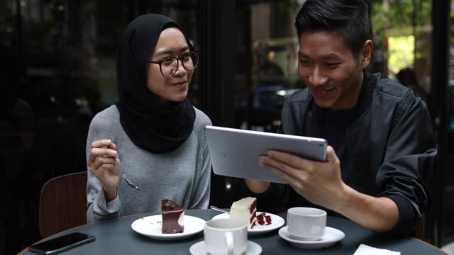 multi-ethnic couple out on a date - malaysian ethnicity stock videos & royalty-free footage
