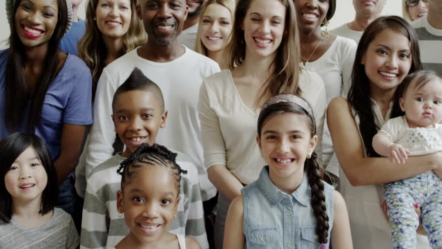 multiethnic diverse generation large group of people - multi ethnic group stock videos & royalty-free footage