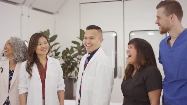 multi-ethnic group of medical professionals - pacific islander doctor stock videos & royalty-free footage