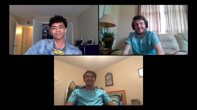 multi-ethnic group of young male friends hang out together via video call - 20 24 years stock videos & royalty-free footage