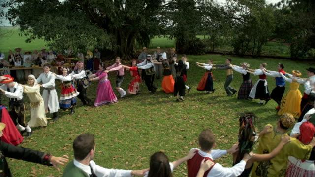 Multi-Ethnic People Dancing