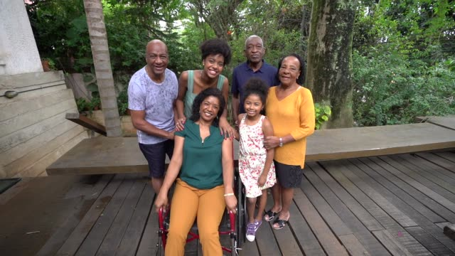 multi-generation african hispanic family at home - pardo brazilian stock videos & royalty-free footage