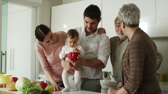 Multi-generation family cooking
