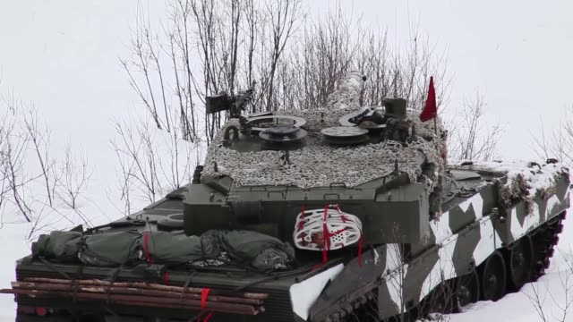 multinational demonstration is performed for distinguished visitors during dv day for exercise cold response 2014. tank and infantry maneuvering,... - infantry stock videos & royalty-free footage