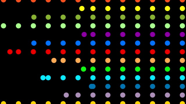 multiple abstract colorful dots in actions leading to copy space - spotted stock videos & royalty-free footage