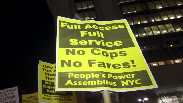 multiple anti-cop demonstrators arrested by the nypd in the streets of harlem manhattan new york city. protesters rallied at the adam clayton powell... - human back stock videos & royalty-free footage