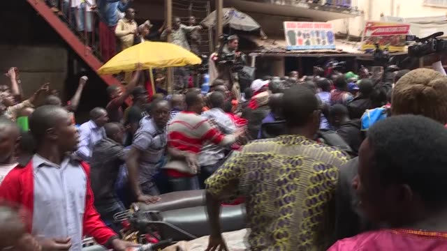 multiple clips. uganda opposition politician robert ssentamu also known as bobi wine leading a demonstration against over the top tax or social media... - kampala stock videos & royalty-free footage