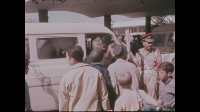 Multiple hijack / British cabinet meet in London ITN Amman InterContinental Hotel Passengers TS Group of cases MS 2 women shake MS Troops at minibus...