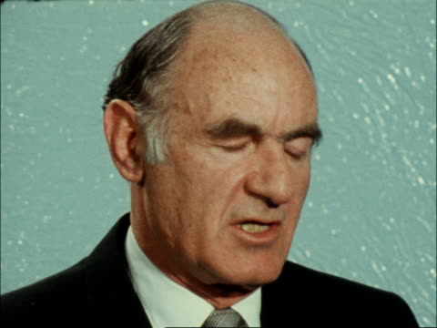 6th day:; england: london: itn house: int michael comay interview sof: - peter snow stock videos & royalty-free footage