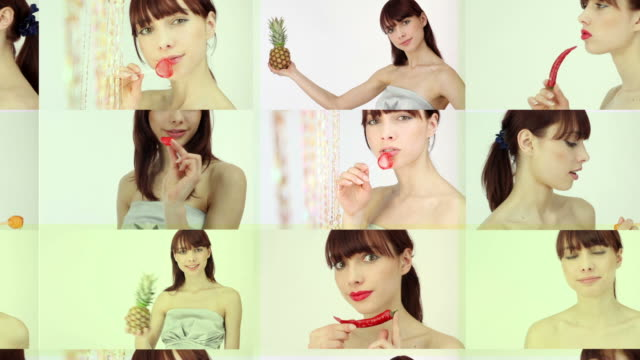 Multiple image of woman