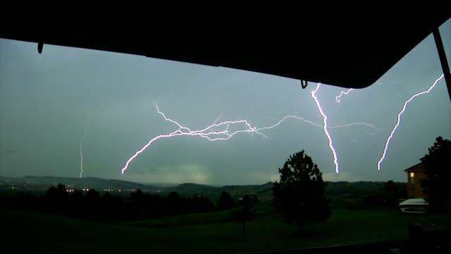 multiple lightning strikes - lightning strike stock videos and b-roll footage