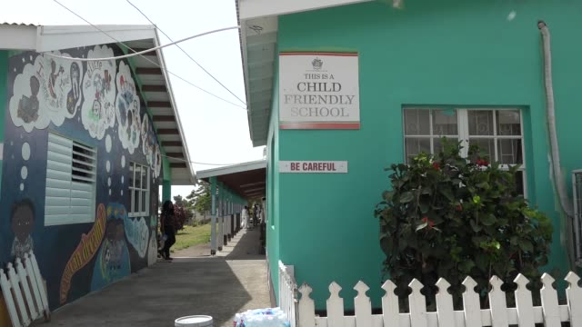multiple nations helped communities of st kitts and nevis by painting and cleaning schools during exercise tradewinds. - freshly painted stock videos & royalty-free footage
