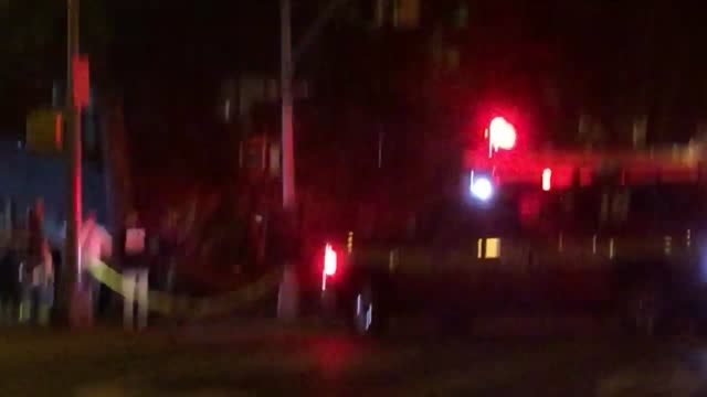 multiple people were injured when scaffolding collapsed onto a car after it drove into one of the buildings of the harlem river houses on 153rd... - adam clayton powell jr stock videos & royalty-free footage