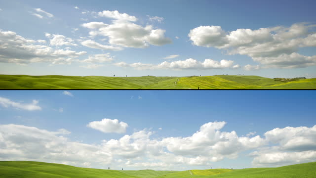 multiple sequence timelapse of ladscape hill - tuscany stock videos & royalty-free footage
