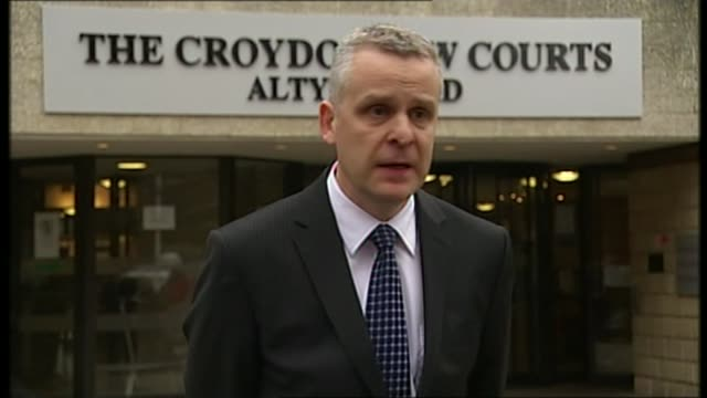 Multiple sex offender John Worboys to be released T13030901 / Surrey Croydon Crown Court EXT Detective Inspector Dave Reid speaking to press SOT...