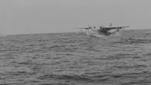 cu multiple shots of pilot control panel of boat plane and boat plane moving over water - united states airforce stock-videos und b-roll-filmmaterial