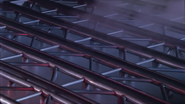 multiple strikes on metal trusses - tesla coil stock videos & royalty-free footage