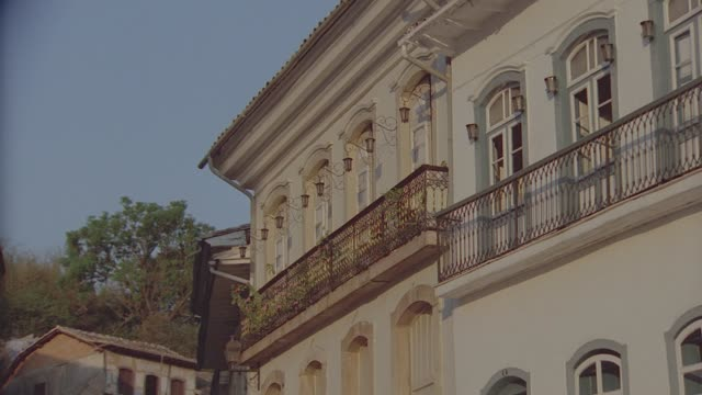 multiple takes of buildings in ouro preto, brazil - preto stock videos & royalty-free footage