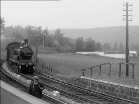 ws multiple tracks with trains and lot of steam in air / perth, perthshire, scotland  - perthshire stock videos & royalty-free footage