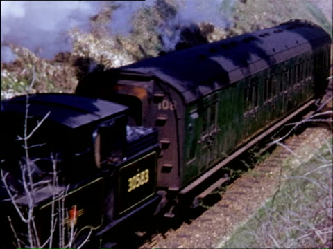 ms ts multiple tracks with trains, lot of steam in air and details of steam engines / perth, perthshire, scotland  - perthshire stock videos & royalty-free footage