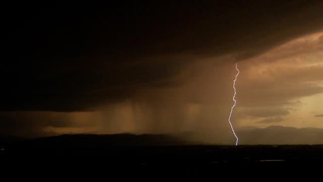 multiple-stroke lightning - lightning strike stock videos and b-roll footage
