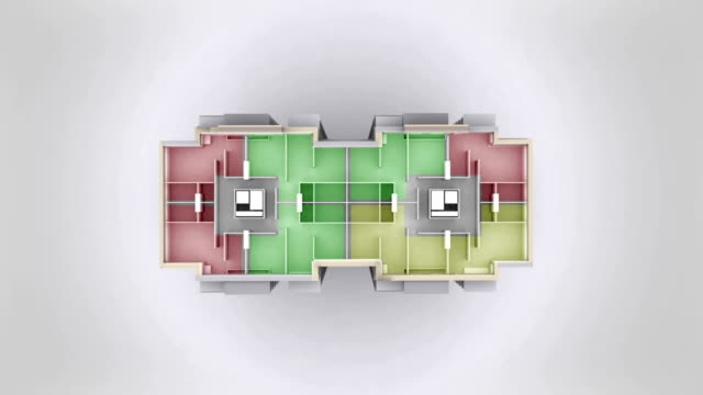 Multiroom apartment house outline.