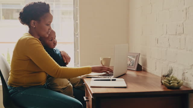 multitasking is a natural skill to a mother - working mother stock videos & royalty-free footage