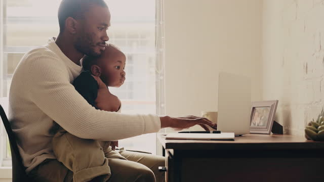 multitasking is a skill a father has to learn - single father stock videos & royalty-free footage