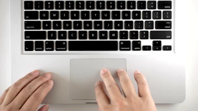 trackpad multi-touch - plusphoto video stock e b–roll