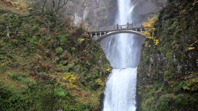 vídeos y material grabado en eventos de stock de multnomah falls cascada en oregon - cascadas de multnomah