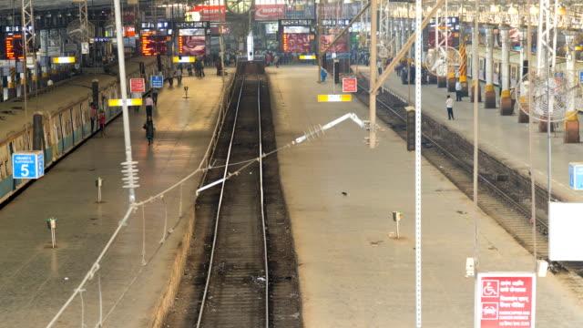 mumbai asia time lapse chhatrapati shivaji terminus  - station stock videos & royalty-free footage