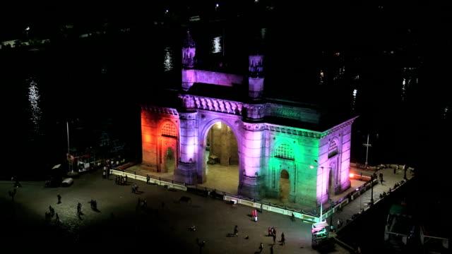 mumbai gateway india lights maharashtra sea people travel  - maharashtra stock-videos und b-roll-filmmaterial