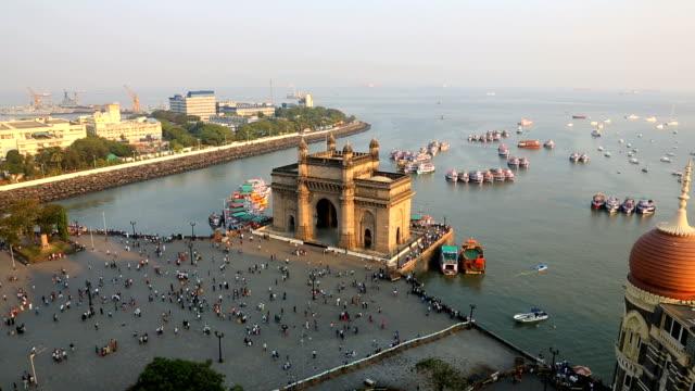 mumbai gateway india maharashtra sea people travel  - maharashtra stock-videos und b-roll-filmmaterial