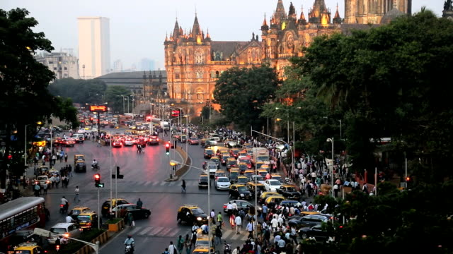 mumbai india asia chhatrapati shivaji terminus - mumbai stock videos & royalty-free footage