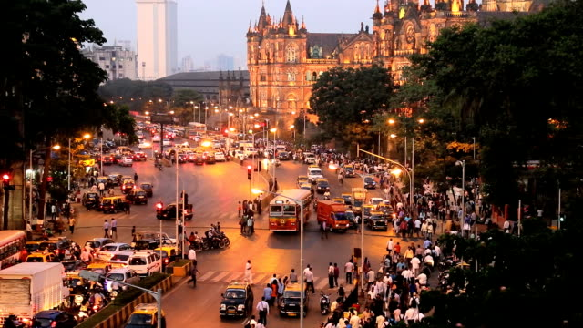 mumbai india asia chhatrapati shivaji terminus - reportage stock videos & royalty-free footage